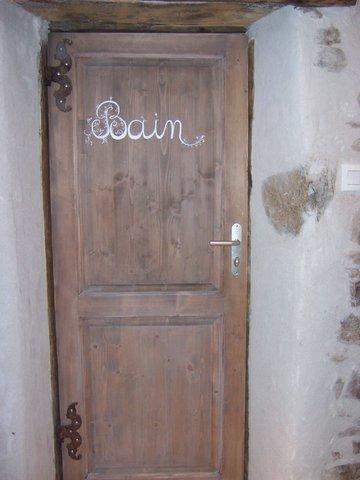 Porte de la salle de bain